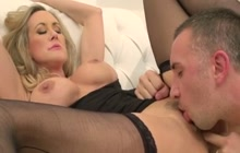 MILF Brandi Love pussy eaten by Keiran Lee